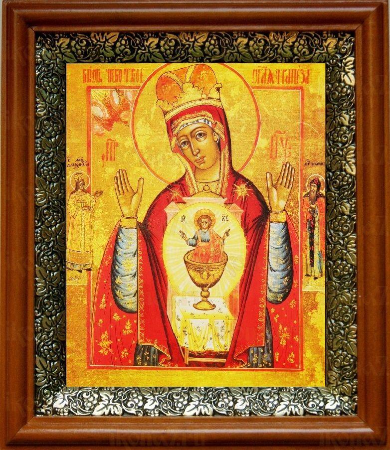 Никейская икона БМ (19х22), светлый киот