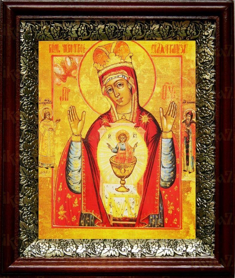 Никейская икона БМ (19х22), темный киот