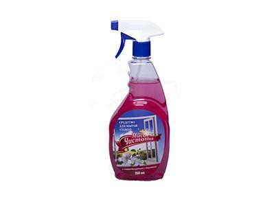 Мисс Чистота для мытья стекол Цветы весны курок 0,75л