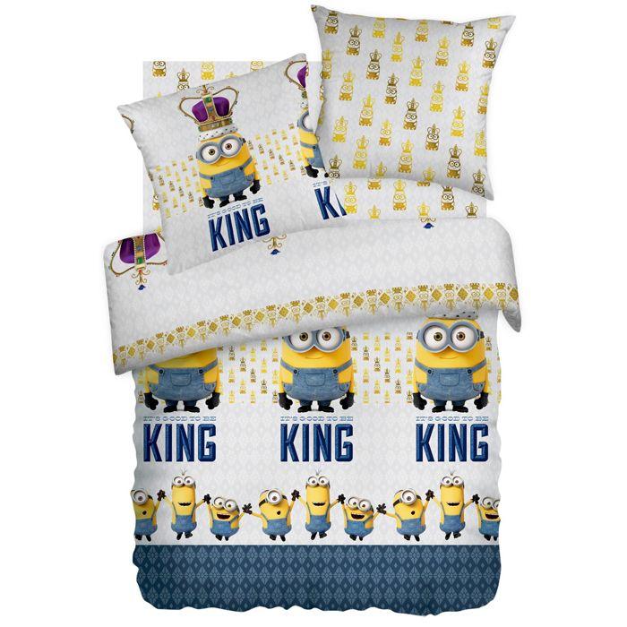 """Детское постельное белье """"Кинг"""", рис.8746+8747-1 (Миньоны), 1.5сп."""