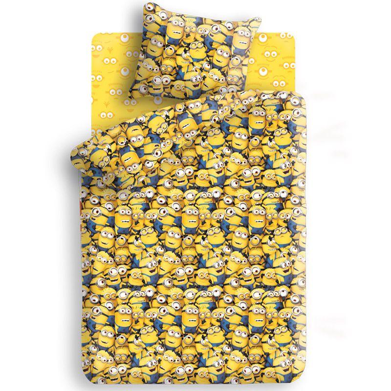 """Детское постельное белье """"Миньоны"""", рис.8677+8675-1."""