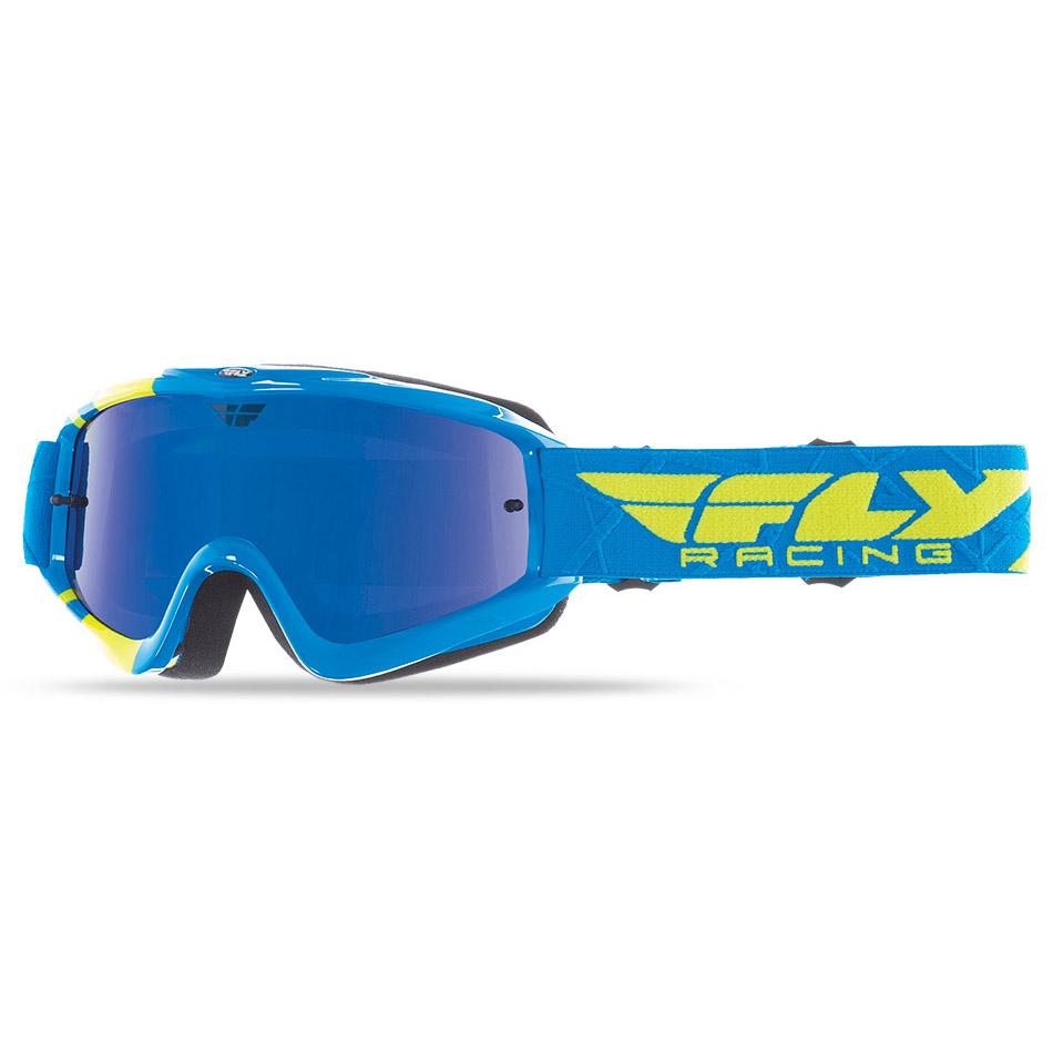 Fly - Zone Hi-Viz очки сине-желтые, линза зеркальная синяя