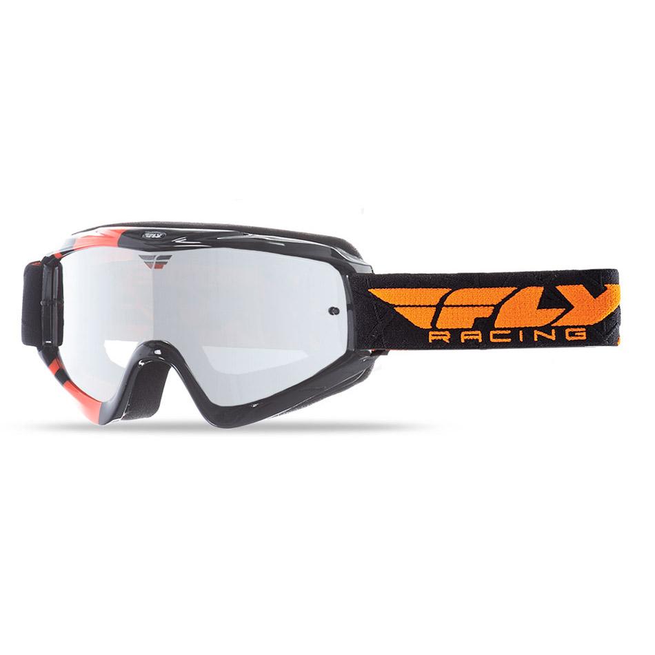 Fly - Zone очки черно-оранжевые, линза зеркальная