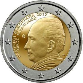 60 лет cо дня смерти  Никоса Казантзакиса 2 евро Греция 2017