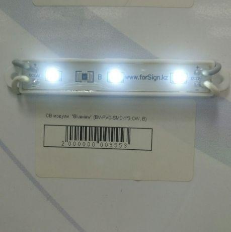 Светодиодный модуль BV-PVC-SMD-1*3-CW, A, для помещений, холодный белый