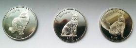 Кошки набор монет (3 монеты) 1 фунт  2017 Остров Строма 2 серия