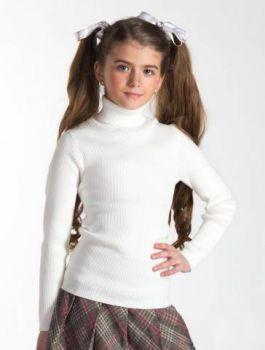 Водолазка белая  5-8,9-12 для девочки  №SM555