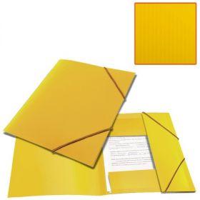 Папка на резинках BRAUBERG Contract желтая /50 221800