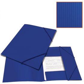 Папка на резинках BRAUBERG Contract синяя /50 221797