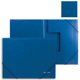 Папка на резинках BRAUBERG Стандарт синяя 0,5мм/10 221623