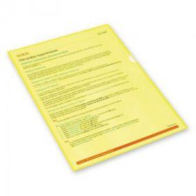 Папка-уголок А4 ATTACHE 150мкм желтая/25/500 270723