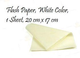 Пиробумага 20х17 см белая (1 лист)