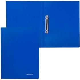 Папка 2 кольца 21мм BRAUBERG Бюджет синяя /18 221611