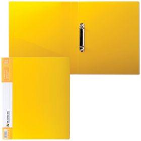 Папка 2 кольца 35мм BRAUBERG Contract желтая до 180л 0,9мм/20 221795