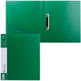 Папка 2 кольца 35мм BRAUBERG Contract зеленая 221794