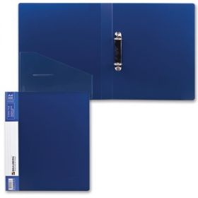 Папка 2 кольца 35мм BRAUBERG Contract синяя 221792