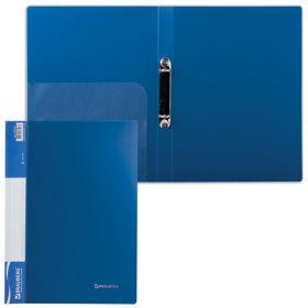 Папка 2 кольца 25мм BRAUBERG Стандарт синяя 221615