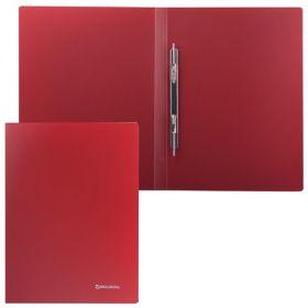 Папка-скоросшиватель BRAUBERG Стандарт красная 221632