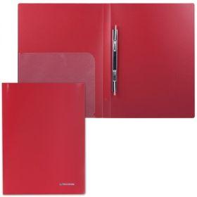 Папка-скоросшиватель+карман BRAUBERG Диагональ т-красная 221355