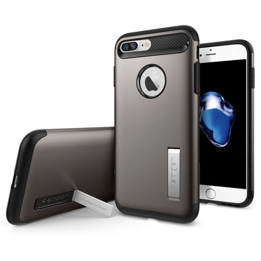 Чехол Spigen Slim Armor для iPhone 7 Plus темный металлик
