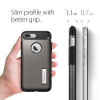 Чехол Spigen Slim Armor для iPhone 8/7 Plus (5.5) темный металлик