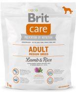 BRIT Care Adult Medium Breed Lamb&Rice Для взрослых собак средних пород с ягненком и рисом (1 кг)