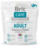 BRIT Care Adult Small&Medium Breed Salmon&Potato Для взрослых собак мелких и средних пород с лососем и картофелем (1 кг)