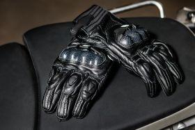 Мотоперчатки кожаные Duhan D-T3 (черные)