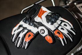 Мотоперчатки кожаные Duhan D-T1 (оранжевые)