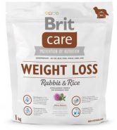 BRIT Care Weight Loss Rabbit&Rice Для собак всех пород с избыточным весом (кролик/рис) (1 кг)
