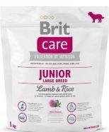 BRIT Care Junior Large Breed Lamb&Rice Для щенков и молодых собак крупных пород с ягненком и рисом (1 кг)