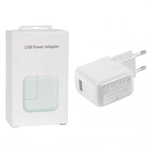 Вилка USB большая оригинал (2.1 А iPAD в коробке)