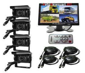 Камеры заднего вида 4 шт с монитором для грузовиков и автобусов PZ710/4