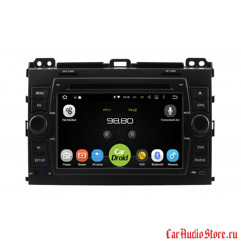 Roximo CarDroid RD-1105 для Toyota Land Cruiser Prado 120 (Android 8.0)