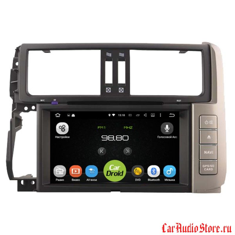 Roximo CarDroid RD-1114 для Toyota Land Cruiser Prado 150 2010 (Android 8.0)
