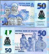 Нигерия 50 найра 2011 UNC ПРЕСС Полимер