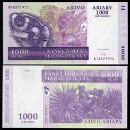 Мадагаскар 1000 ариари 2004 (2009) UNC ПРЕСС ИЗ ПАЧКИ