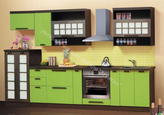 Кухня Диана 9 3,2 м Зеленое яблоко