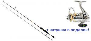 Спиннинг AIKO Bellis BLS692L 206 см 2-8 гр + катушка Cormoran Bull Fighter 5aiF 1500  в подарок!