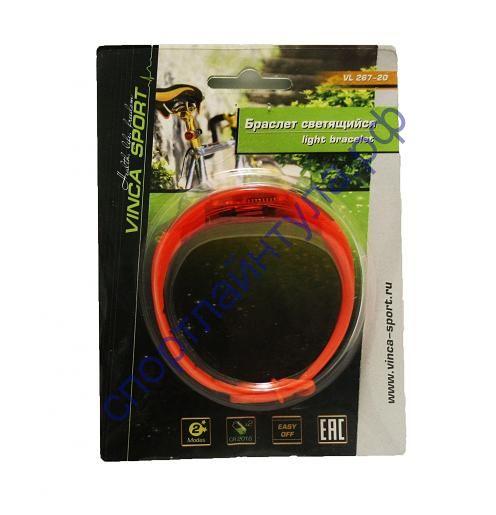 Светящийся браслет, красный, батарейки в комплекте