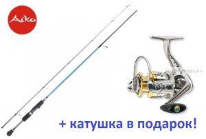 Спиннинг AIKO Dixi DIX195UL 1-7 гр + катушка Cormoran Bull Fighter 5aiF 1500  в подарок!