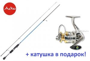 Спиннинг AIKO Dixi DIX210UL 2-9 гр + катушка Cormoran Bull Fighter 5aiF 1500  в подарок!