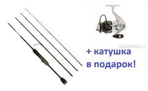 Спиннинг Aiko Freyja 664 ULT 198 см 1-10 гр + катушка Cormoran Pearl Master 2000  в подарок!