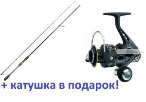 Спиннинг Aiko Arsenal ARS762ML 229 см 3-21 гр+ катушка Cormoran Black Master 3000  в подарок!