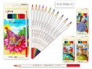 Набор цветных карандашей, 12 цветов, белый корпус  815046-12  (12938)