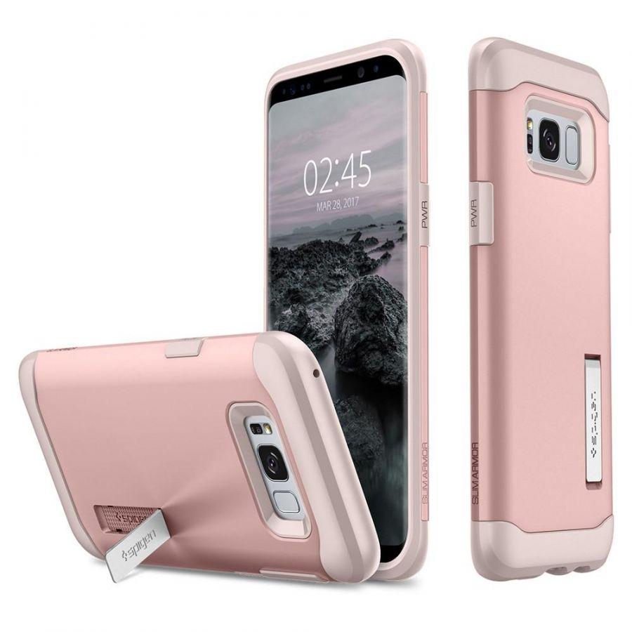 Чехол Spigen Slim Armor для Samsung Galaxy S8 розовое золото