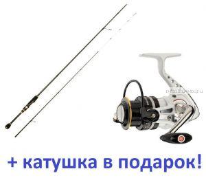 Спиннинг Aiko Jannjeta JNT 632LT 1.91м / тест 2-8гр + катушка Cormoran Pearl Master 2000  в подарок!