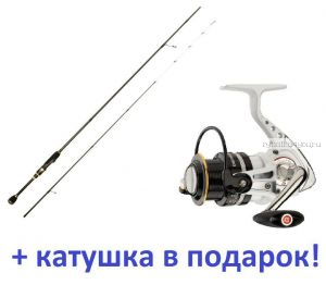 Спиннинг Aiko Jannjeta JNT 762ULS 2.29м / тест 2-8гр + катушка Cormoran Pearl Master 2000  в подарок!