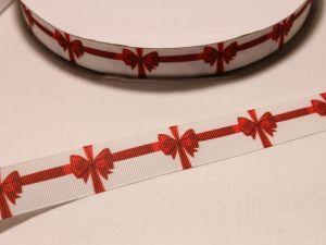 Лента репсовая с рисунком, ширина 22 мм, длина 10 м, Арт. ЛР5484