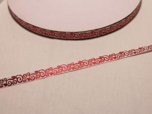 Лента репсовая с рисунком, ширина 9 мм, длина 10 м, Арт. ЛР5528-1
